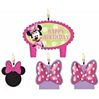 Minnie Mouse Birthday Cake Candles Set Decoration Toppers by Lgp