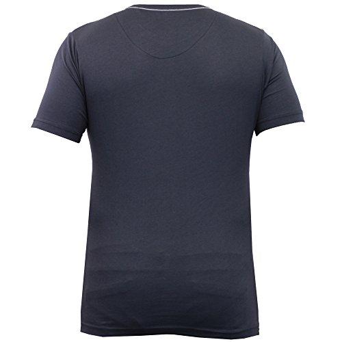 Herren T-shirt Firetrap Kurzärmelig Graphischer Aufdruck Rundhals Freizeit Sommer Neu Marineblau - TABB