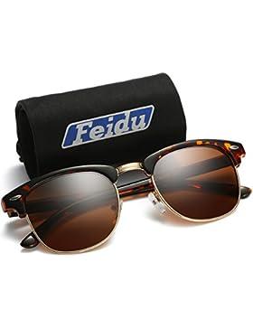 FEIDU UV400 Clubmaster Gafas de Sol Polarizadas Para Hombre y Mujer FD 3030