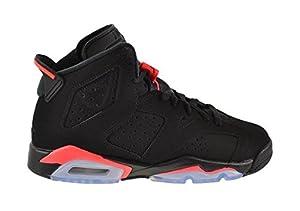 Nike Herren Air Jordan 6 Retro Turnschuhe, Schwarz / Rot (Schwarz / Infrarot-23-Schwarz), 41 EU