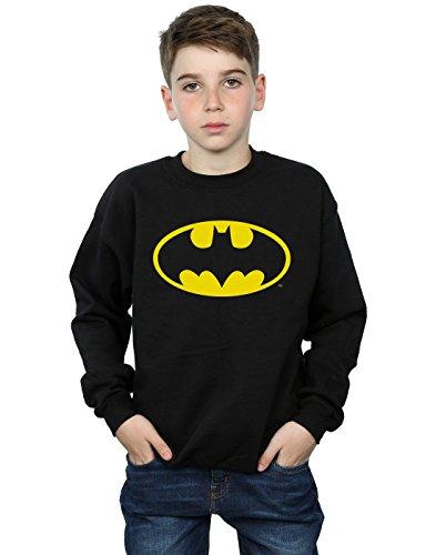 DC Comics Jungen Batman Logo Sweatshirt 5-6 Years Schwarz Dc-jersey Sweatshirt