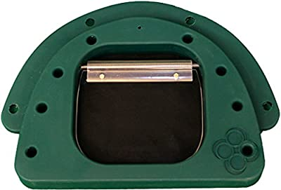 PetzPodz MEDIUM green premium plastic Front Insert for pod with clear acrylic dog flap