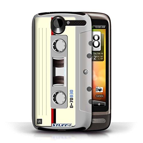 Kobalt® Imprimé Etui / Coque pour HTC Desire G7 / Cassette Vidéo VHS conception / Série Retro Tech Compact Cassette Audio