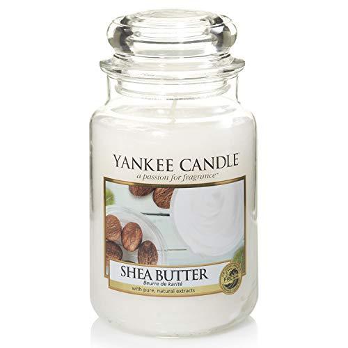 Yankee Candle große Duftkerze im Glas, Shea Butter, Brenndauer bis zu 150Stunden