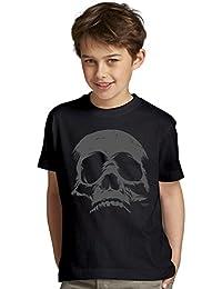 Halloween-Kostüm-Kinder-Jugend-Fun-T-Shirt Gruselig witziges Shirt für Kids Mädchen / Jungen Skull Geister Gespenster Kürbis Outfit Geschenk Idee Farbe: schwarz