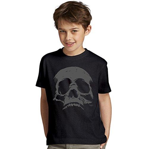 Halloween-Kostüm-Kinder-Jugend-Fun-T-Shirt Gruselig witziges Shirt für Kids Mädchen / Jungen Skull Geister Gespenster Kürbis Outfit Geschenk Idee Farbe: schwarz Gr: ()