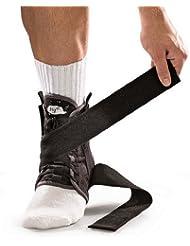 Mueller Fußgelenkbandage mit Gurt Hg80 mit HydrCinn Gewebe, schwarz, XL