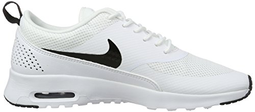 Nike Wmns Air Max Thea, Low-Top femme Blanc (White/Black)