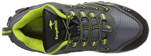 KangaROOS Molas, Sneaker Unisex-Adulto Grau (Steel Grey/Lime)