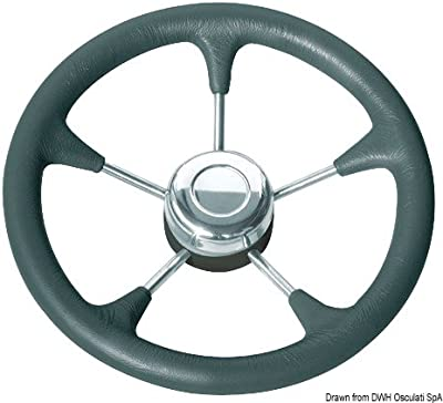 Volante poliuretano nero con raccordo English: Steer.wheel,soft polyur.,black