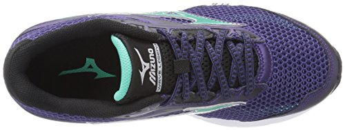 Mizuno Wave Legend 4 Maschenweite Laufschuh Mulberry Purple/Electric Green/Black