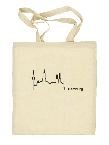 Shirtstreet24, Skyline Hamburg, Stoffbeutel Jute Tasche (ONE SIZE) Natur