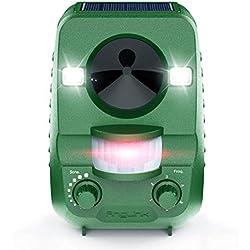AngLink Répulsif Chat Ultrason Solaire Repulsif Chat Exterieur Ultrason Chat pour Repousser Animaux Nuisibles Protecteur de Jardin - 2019 Nouvelle Version