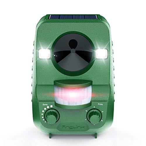AngLink Version 2019 Solar Katzenschreck Ultraschall abwehr mit Batteriebetrieben und Blitz Empfindlichkeit Wetterfest Hundeschreck Tiervertreiber