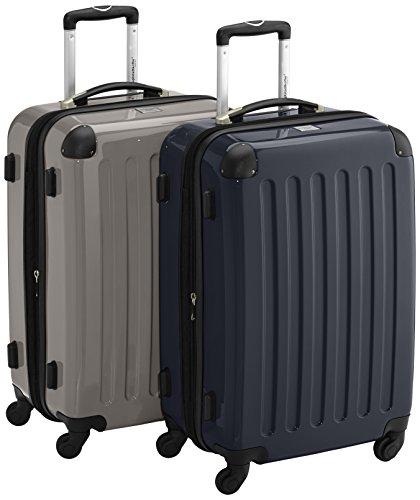 HAUPTSTADTKOFFER - Alex - 2er Koffer-Set Hartschale glänzend, 65 cm, 74 Liter, Graphit-Schwarz Graphit-Schwarz