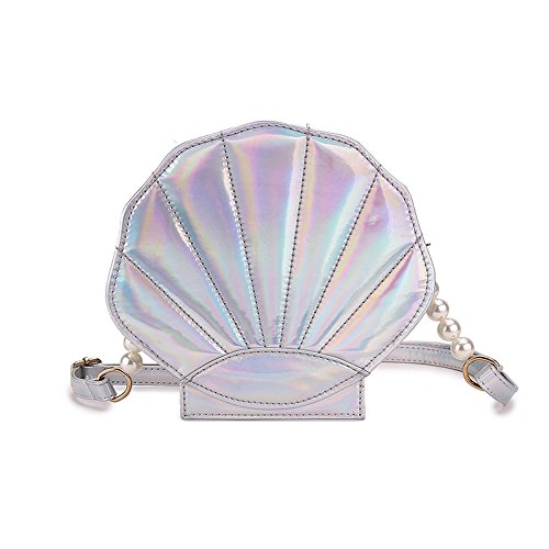 FANCY LOVE Unique Summer Crossbody Bags Cute Shell Shape Bag Messenger  Lolita Mini Handbag for Women cfd9217c6d753