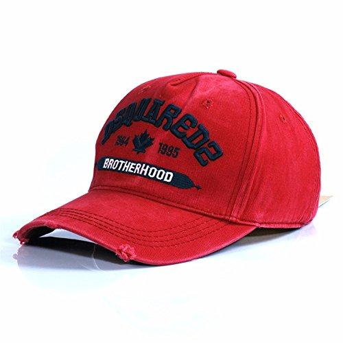 HYP@Baseball Cap/Baseballkappe/Trucker Cap/Trucker Hat/Golf Sport Outdoor Kappe Mütze CapCotton Cap Stickerei, Rot, verstellbar (Grau Jordan Rot, Und Weiß)