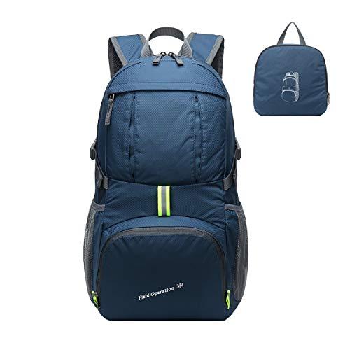caxece Leichte Packbare Trekkingrucksäcke Wanderrucksack Damen Herren für Urlaub Reise Tagestouren Beigsteigen Sport Camping Wasserdicht*