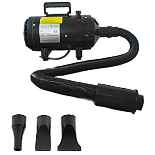 AutoFu 380W-2800W Pet Grooming Hair Dryer/Black Blaster Dryer Stand Dog/Cat / Car - Low Noise Stepless Speed Blower Heater Pet Bathing Accessories