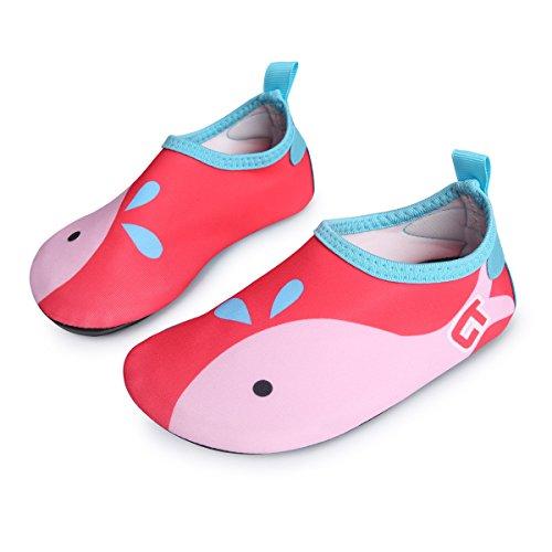 L-RUN Mutifunktionelle Barfuß-Wasser-Schuhe für Schwimmen Laufen Surfen Yoga-Übungen Rot (Barfuß Schuhe Laufen)