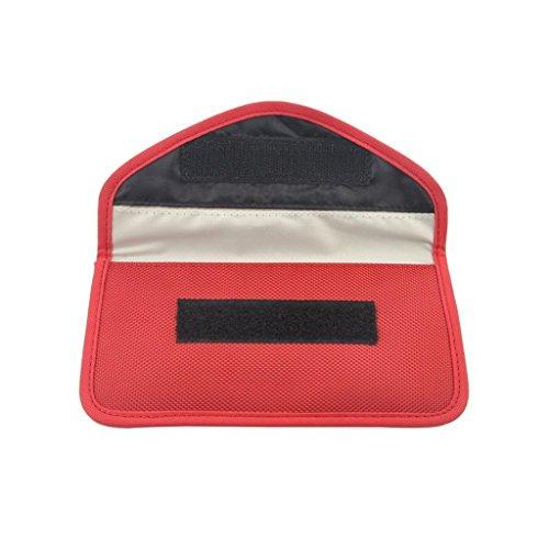kokiya GPS Signal Tracking Blocker/Jammer Pouch Tasche Verhindert Das Telefon Tracking - rot - Wifi-jammer