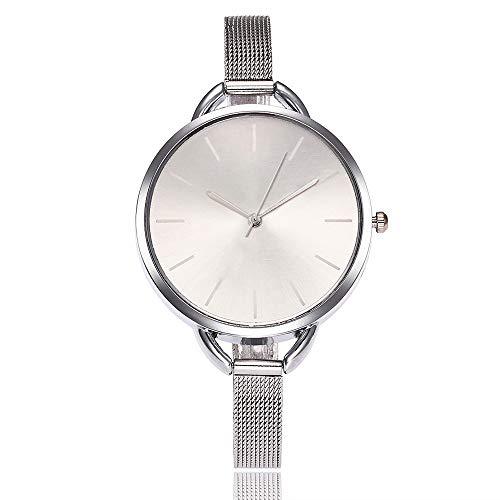 Gaddrt Uhren Vansvar beiläufige Quarz-Edelstahl-Band Bügel-Uhr-analoge Armbanduhr (C)