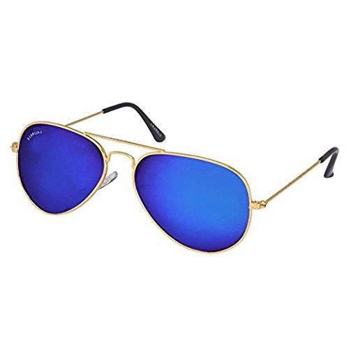 Laurels Helix Men Blue Color Aviator Sunglass (LS-HLX-030606)