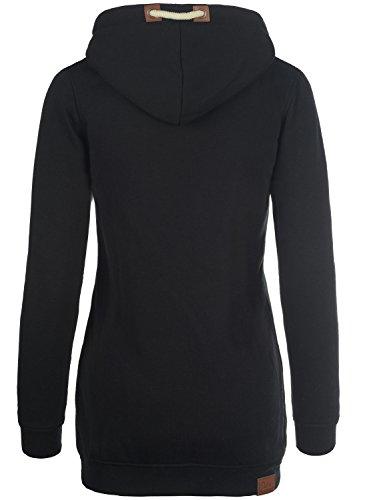 DESIRES Liki Straight-Zip - Sweat à capuche zippé - Femme Black