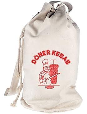 bedruckter Seesack Umhängetasche Schultertasche Beutel Bag Döner Kebab