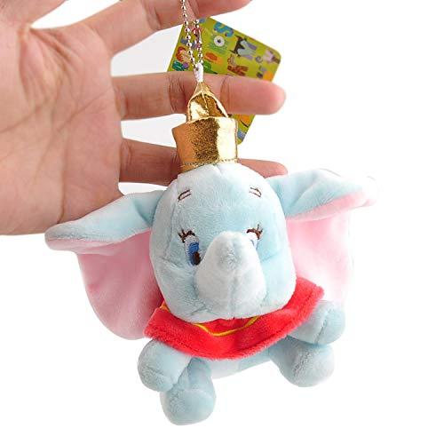 Kunstfell-elefant Tasche (CDGZ Neue Dumbo Nette Kleine Fliege Elefant Plüsch Keychain Mini Kuscheltiere Puppe Spielzeug Kinder Geschenke 10 cm)