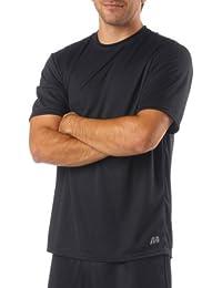 A4 Men's Birdseye Mesh Crew Short Sleeve Tee, Black, Small by Unknown