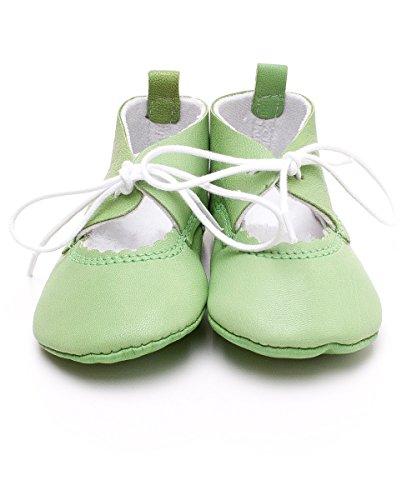 Chaussure De Bébé Poussoir De Cuir Cuir Sandales Chaussures Premiers Pas Chaussures De Bébé Green - GREEN