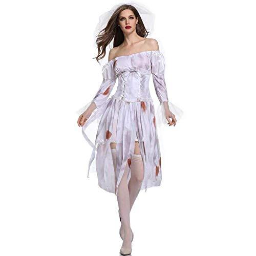 stüm Geist Braut Zombie-Vampir Cosplay Rollenspiel Spiel Uniform Kostüm ()