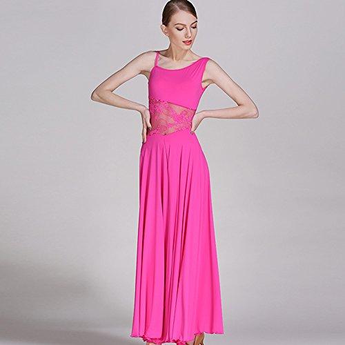 Xueyanwei modern lady ' s big pendolo abito da ballo sala da ballo abito costume moderna dance dress dance concorrenza performance costume,pink,s