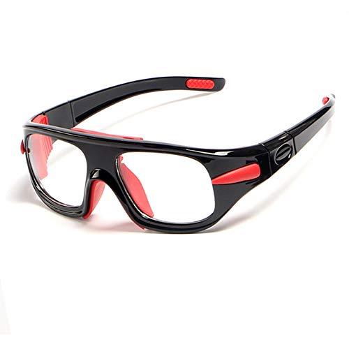 Adisaer Schutzbrille Werkstatt Abnehmbare Tempelbasketballspiegel Professionellen Basketballglas Fußball Schutzbrillen Black Damen Herren