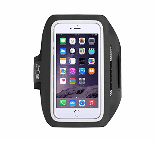 Tantra Enhandz Arm Band Adjustable Sports Anti-slip Ultra Light Weight Armband Mobile Holder(upto 4.7 inches like iphone 4,5,6& 6s(Black)(M Size)