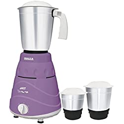 Inalsa Jazz 550-Watt Mixer Grinder with 3 Jars (Purple/White)