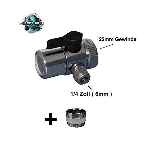 Planet-Aqua Universal Wasseranschluss Set für die Wasserhahn Armatur inkl. Adapter Gewinde Anschluss - Wasserfilter Küchenfilter Osmoseanlage UmkehrOsmose Schnellverbindung Verbinder Stück Aquarium