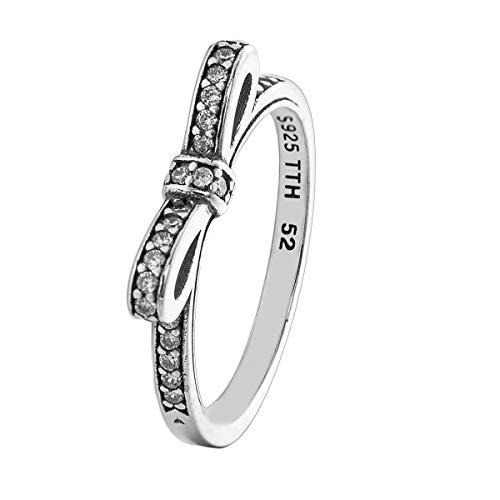 Changeable anelli da donna argento sterling 925 misura anello 16 (arco frizzante)
