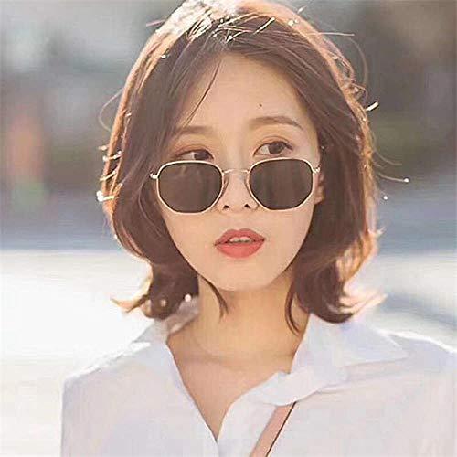 BHLTG Sonnenbrille weibliches rundes Gesicht großes Gesicht war dünn Persönlichkeit Phnom Penh Brillen Spiegel Mode Wild Square Hipster Sonnenbrille # -1