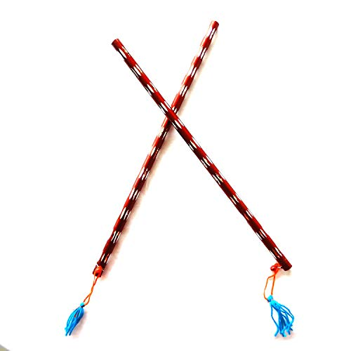Bignay Dandiya Sticks - Aluminiumstick, Paar 2 Kastanienbrauner Farbe, Dandiya Special Navaratri Ocassion, Garba Sticks