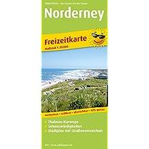 Norderney: Rad- und Wanderkarte, Freizeitkarte mit Thalasso-Kurwegen, Sehenswürdigkeiten, Stadtplan und Straßenverzeichnis, wetterfest, reißfest, ... 1 : 20 000 (Rad- und Wanderkarte / RuWK)
