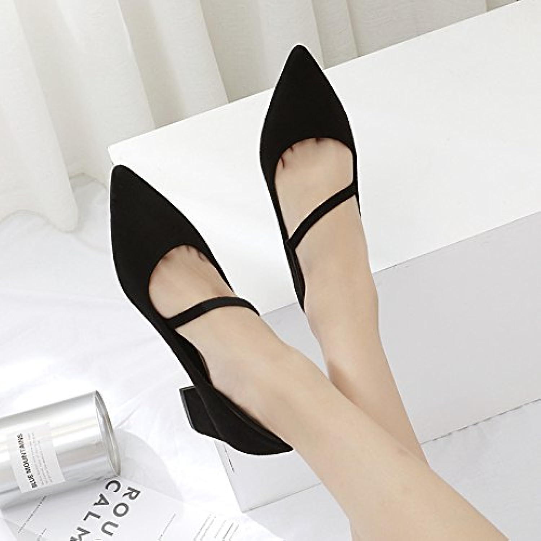 Sugerencia zapatos de mujer _, con wild con negrita satinado boca superficial señaló solo zapatos zapatos de mujer...
