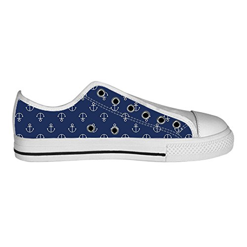 Dalliy Blue ocean Anchor Men's Canvas Shoes Lace-up High-top Footwear Sneakers Chaussures de toile Baskets C