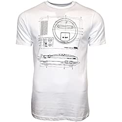 SEGA Mega Drive Ufficiale Blueprint T-Shirt