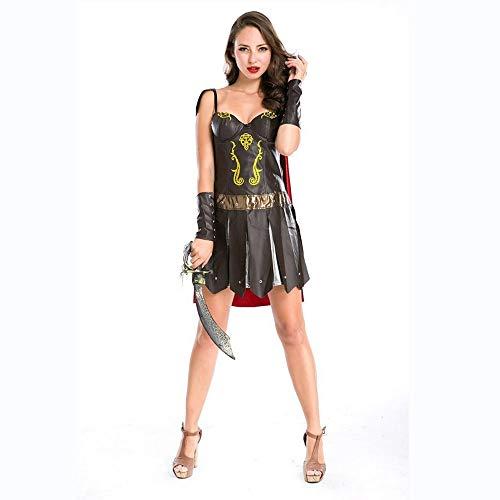 Shisky Cosplay kostüm Damen, Weibliche Krieger Ritter Kostüm Halloween Kostüm Cosplay Club Performance Kostüm