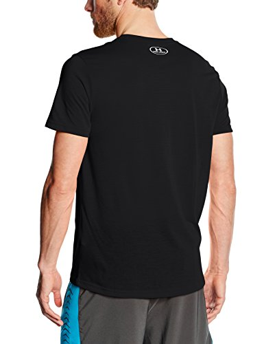 Under Armour Threadborne Streaker V Neck Maglia con Maniche Corte Nero