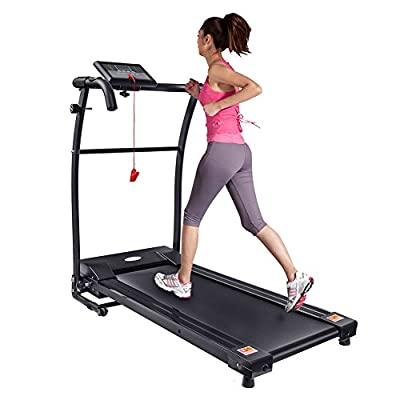 Motorised Electric Treadmill with Grip Heart Rate, Fitness Running Machine by unknown