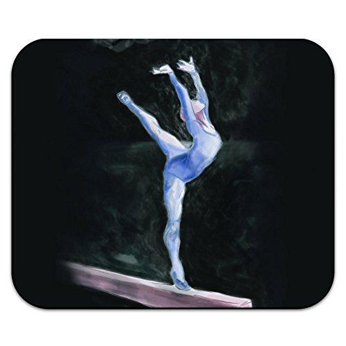 gymnaste-bleu-gymnastique-vault-cheval-darcons-tapis-de-souris-tapis-de-souris