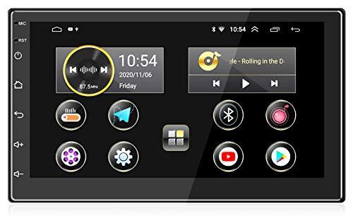 Oferta de ANKEWAY 2021 Nuevo 7 Pulgadas [2G+16G] Android 10,1 Radio Coche 2 DIN con HiFi+WiFi+Bluetooth+RDS+FM+Navegación GPS, Sistema Multimedia de Internet para Coche con Pantalla Táctil HD de 1080P(12V)